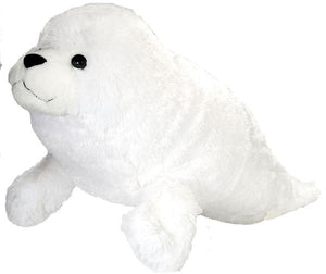 "harp seal wild republic chilly water arctic soft stuffed cute cuddly animal animals snuggle 15"" 30"""