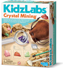 Load image into Gallery viewer, KidzLabs Crystal Mining Kit