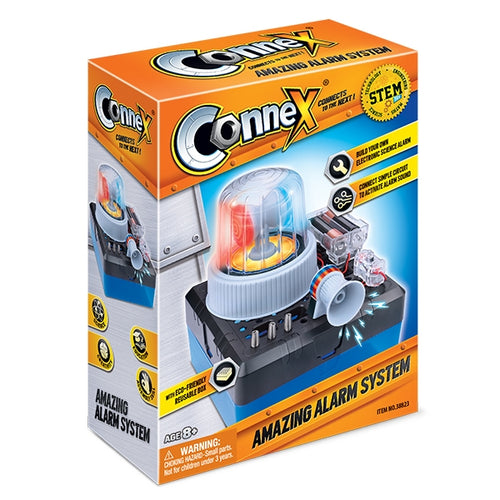 connex amazing alarm system kit electronic science alarm connect circuits active alarm educational science kits knowledge physics ages 8+ activities realistic concepts physical theory eco-friendly experiment experiments toy toys science kit science clearance