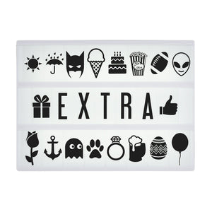 Extra Symbol & Letter Pack for Original & Marquee Cinema Lightbox