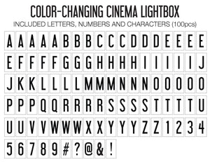 Original Cinema Lightbox (Color-Changing)