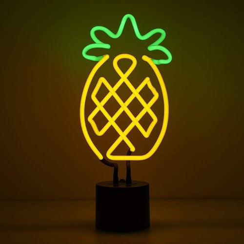 Be like a pineapple: stand tall, wear a crown and be sweet on the inside! This international sign for hospitality never goes out of style. Our neon pineapple is hand made with painted glass tube, the most intricate design of them all.