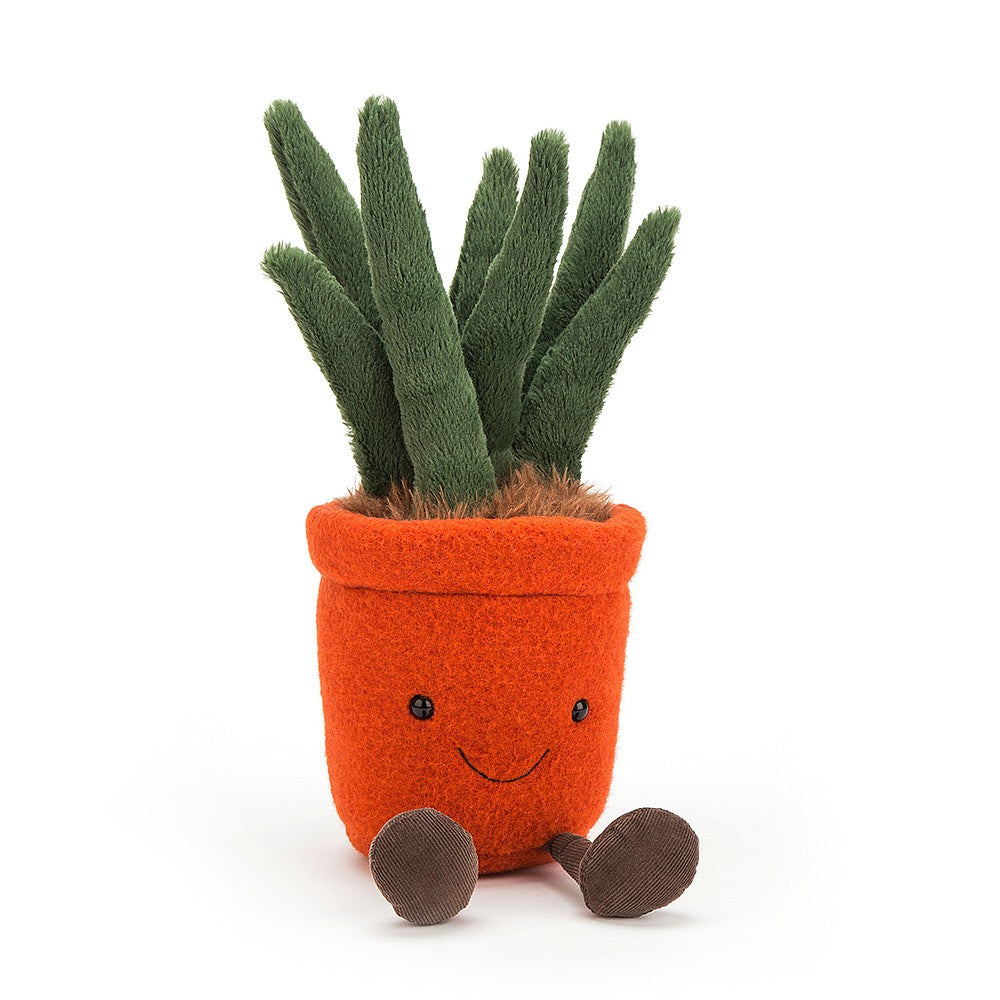 amuseable yucca jellycat ages 0+ fun cute smiley smile unique quality red linen pot brown soil brick orange squishy soft plush stuffed happy