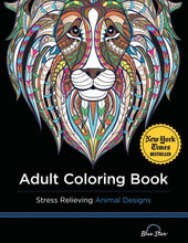 Load image into Gallery viewer, Adult Coloring Book: Stress Relieving Animal Designs