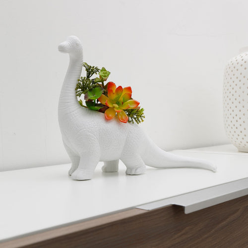 Add some Jurassic flair to your home! Your new long-necked friend is great for succulents and other small plants. For indoor use.