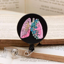 Load image into Gallery viewer, Anatomical Lungs Badge Reel