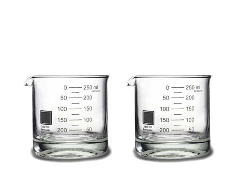 beaker rocks glasses set of 2 pt ware flared lip pulled spout metric graduations laboratory beaker fused elegant shape solid base glass mixed drinks daily table use hand blow shaped dishwasher safe glassware unique scientist cool awesome amazing interesting measured period tableware