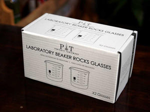 Beaker Rocks Glasses Set of 2
