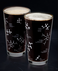 Beer Chemistry Pint Glass Set of 2