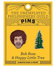 Load image into Gallery viewer, Bob Ross & Happy Little Tree Pins