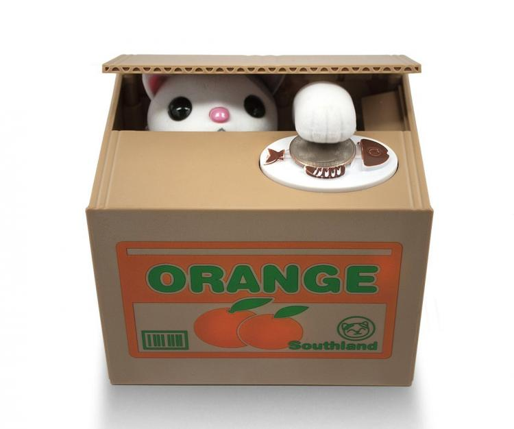 Animated Kitty Coin Bank
