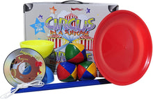 Load image into Gallery viewer, circus in a suitcase higgins brothers toy toys tropic diabolo jive sticks string juggling beginner spinning plate stick dvd entertaining handy light performance circus colorful hobby hobbyist hobbies unique clearance circus challenging