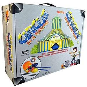 circus in a suitcase higgins brothers toy toys tropic diabolo jive sticks string juggling beginner spinning plate stick dvd entertaining handy light performance circus colorful hobby hobbyist hobbies unique clearance circus challenging