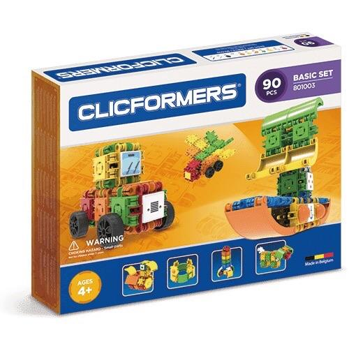 clicformers basic 90 playwell imagination build building toy toys blocks accessories stickers boats animals rocket ships construction development eye-hand-coordination children stem education engineer engineering ages 4+ clicking stack store