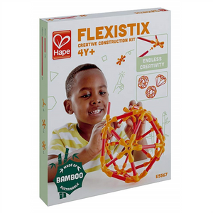 flexistix creative construction kit hape ages 4+ star ball wheel stem bamboo sticks silicon connectors projects science technology engineering mathematics structure construction building imagination durable educational creativity