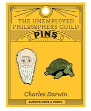 Load image into Gallery viewer, Charles Darwin & Tortoise Pins