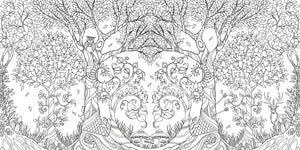 Enchanted Forest: An Inky Quest and Coloring Book