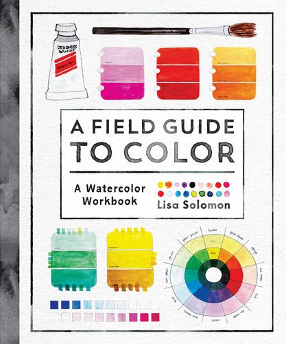 A field guide to color watercolor workbook lisa solomon color colors colorful roost books penguin random house graphic paint palette interactive creativity self-expression art artists hobbyists creators water color wheel color mixing playful inspiring understanding
