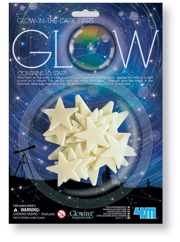 glow stars 4M beauty night sky childs bedroom decorate walls ceilings soft foam assorted stars adhesive space enthusiasts anxious ages 3+ white stars stars home glow decor decoration fun popular exciting
