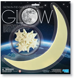 Glow in the Dark Large Moon and Stars