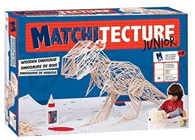 matchitecture junior t-rex wood model modeling engineer engineering build building construction construct create creative creativity invent glue play matches fun cool tyrannosaurus rex dino dinosaur paleontologist engineer engineering