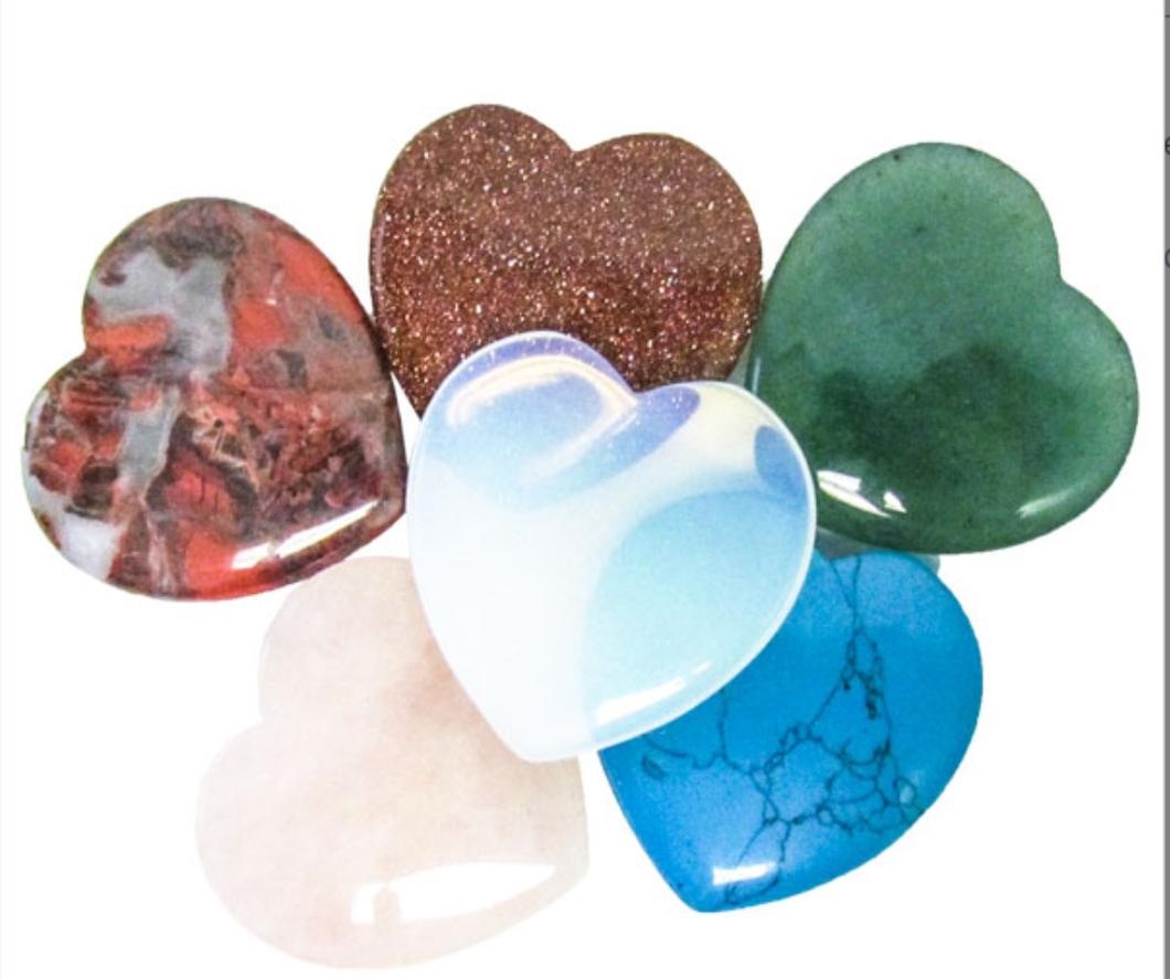 mini hearts assorted cute stones wonderful gifts moral anatomy heart poetic stylized love colorful colors variety colored gemstones geology geologists