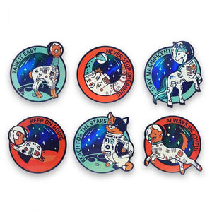 Mission Space Animals Sticker Set