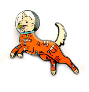 Mission Space Dog Enamel Pin
