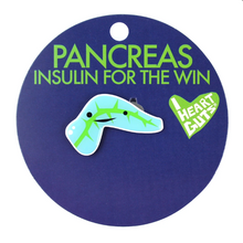 Load image into Gallery viewer, Pancreas Lapel Pin - Insulin for the Win!