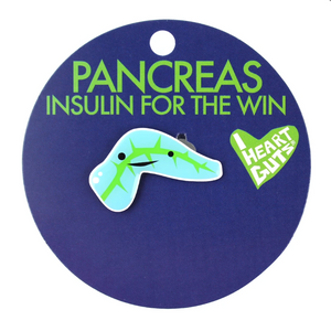 Pancreas Lapel Pin - Insulin for the Win!