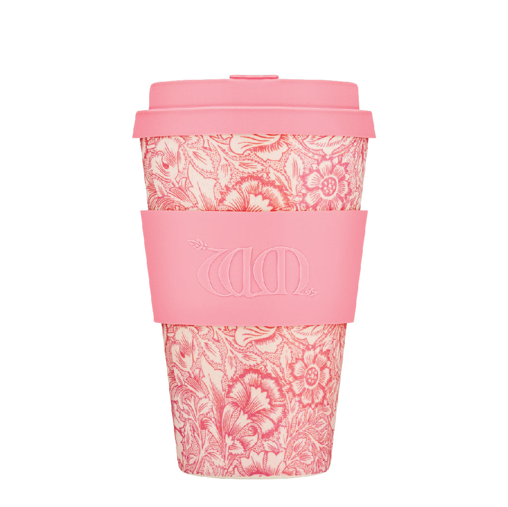 Ecoffee Reusable Bamboo Cup - William Morris Poppy