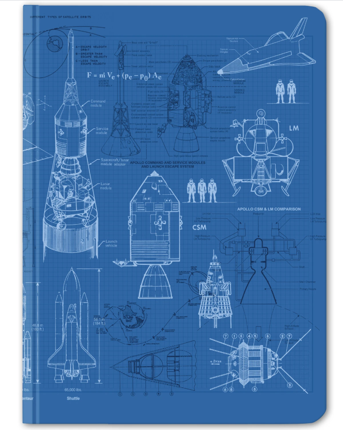 Rocketry Hardcover Journal Dot Grid