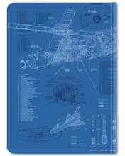 Load image into Gallery viewer, Rocketry Hardcover Journal Dot Grid
