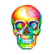 Load image into Gallery viewer, Skull Watercolor Sticker