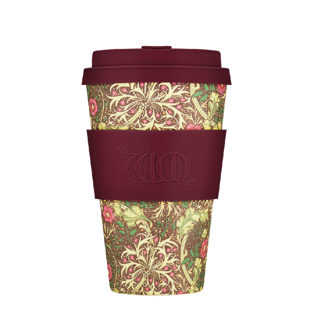 Ecoffee Reusable Bamboo Cup - William Morris Seaweed