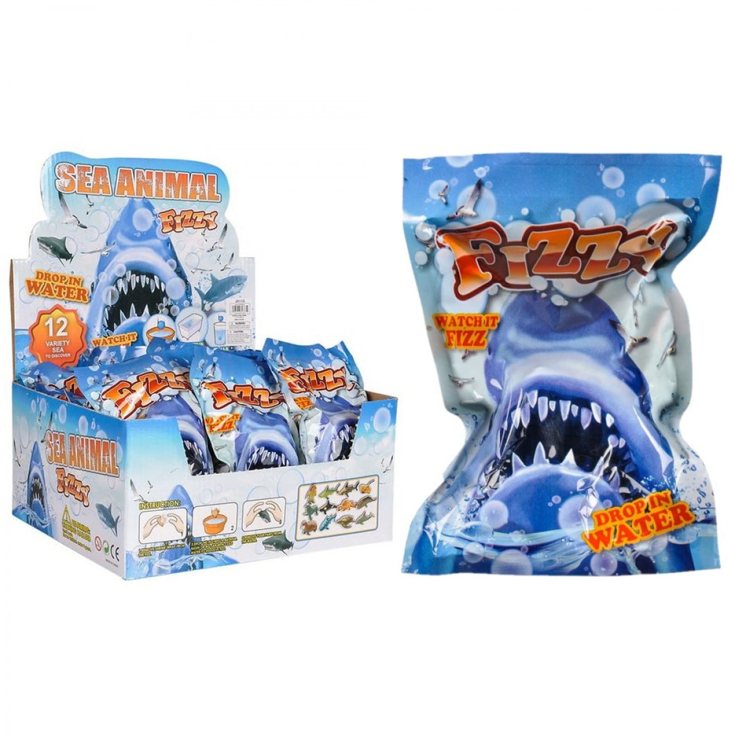 sea animal fizzy incredible novelties egg shape dissolves reveal toy toys variety collectable ages 3+ water fizzy clearance bath shark sharks ocean animal