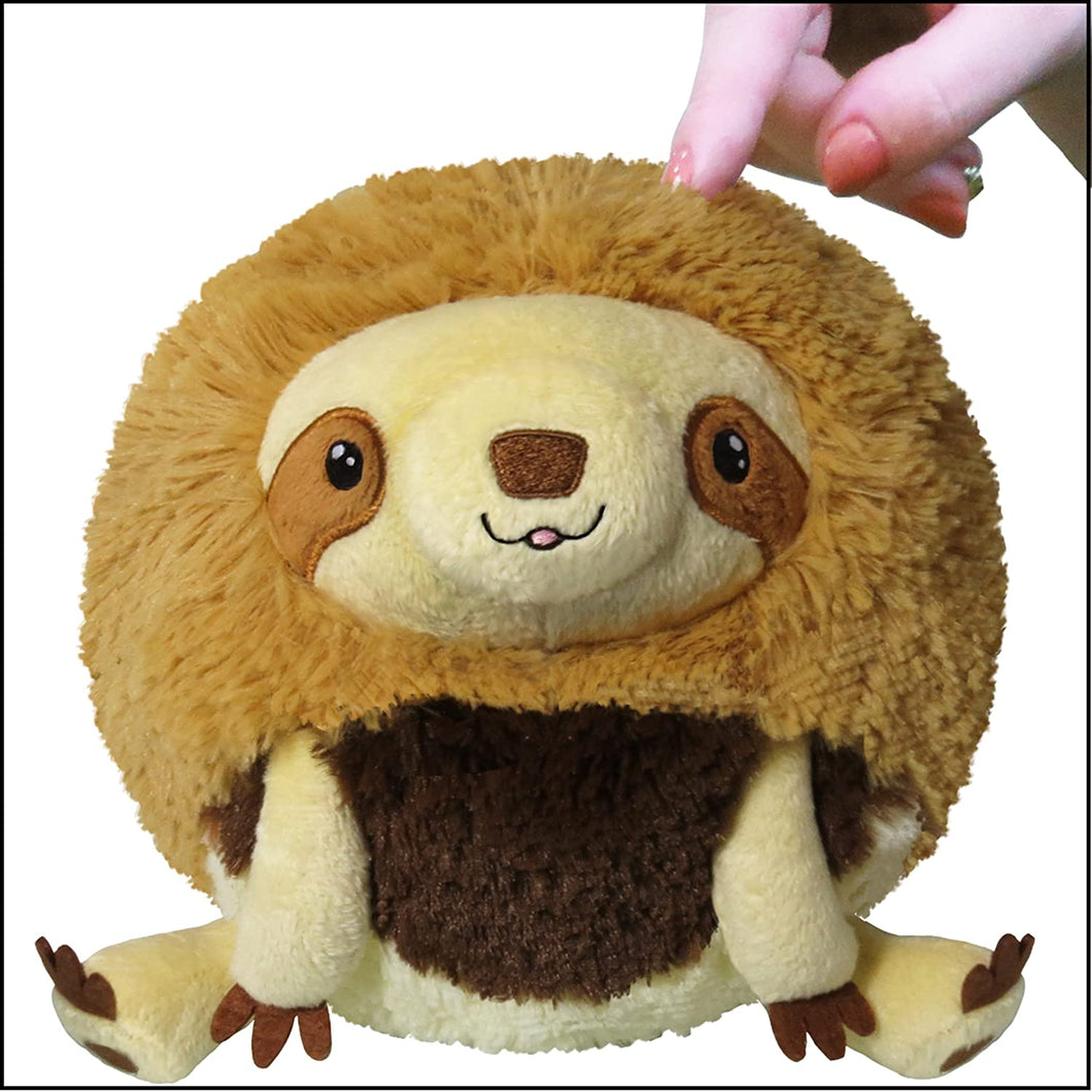 baby sloth mini squishable plush 7inches megalonychidae polyester fibre ages 3+ round soft cuddly fun cute plush stuffed animal animals