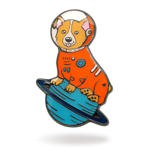 Space Corgi Enamel Pin