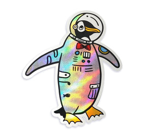 Space Penguin Sticker