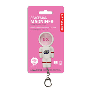Mini Spaceman LED Magnifier Keychain
