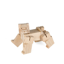 Load image into Gallery viewer, square bear cub puzzle blockbeasts kikkerland david weeks studio tactile sturdy hand crafted bear cube transform puzzle puzzles challenge wood toy toys game games