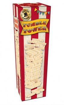 tumble tower incredible novelties classic family game jenga unstable topples blocks wood