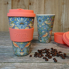 Load image into Gallery viewer, Ecoffee Reusable Bamboo Cup - William Morris Thief