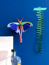 Load image into Gallery viewer, blue comet butterfly paper decoration studio ROOF madagascar assembly required beautiful unique cool decor nature insect color colorful design sleek style stylish