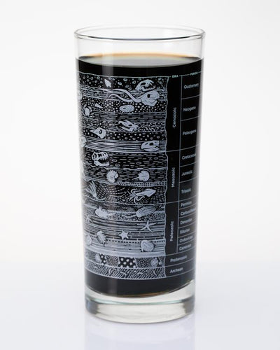 core sample tumbler cognitive surplus rehydrate fancy lab cocktail style gift 15oz glass dishwasher safe glassware foodie drink beverage drinks beer alcohol  geology science geologist dinosaur fossil fossils paleontologist