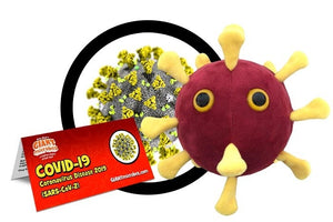 coronavirus microbe plush giantmicrobes giant microbes covid-19 spread quarantine isolation plague disease physical distancing mask masks virus microbiology