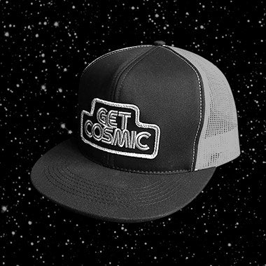 Get cosmic aaron draplin design draplin design co. DDC craftsmanship quality space stylish unique hat durable mesh ventilation fitted adjustable snapback