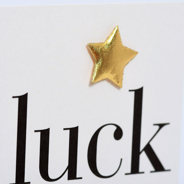 New Job Card, Good Luck, Embellished with a padded star