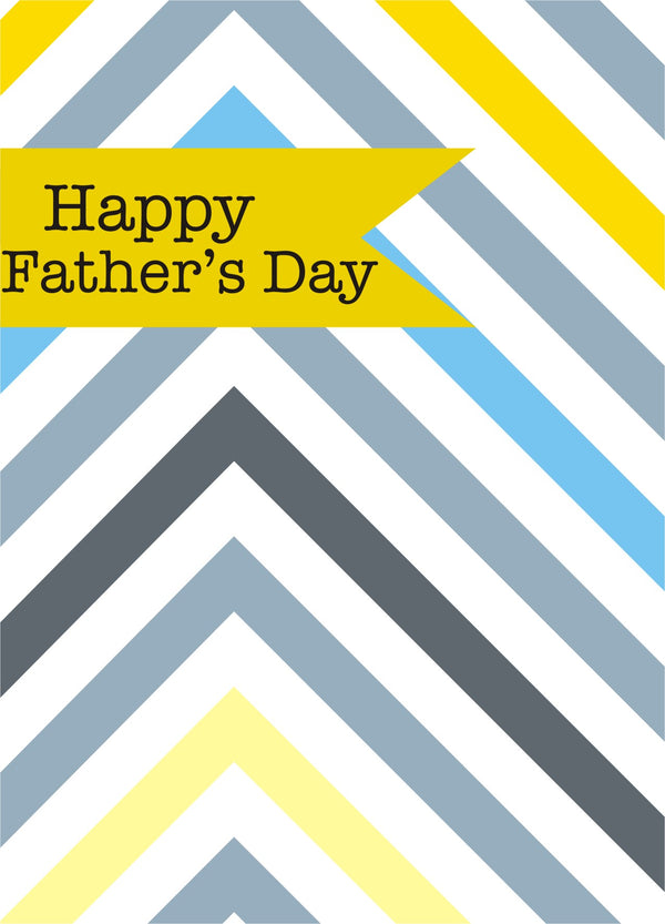 Father's Day Card, Chevrons, Happy Father's Day, See through acetate window