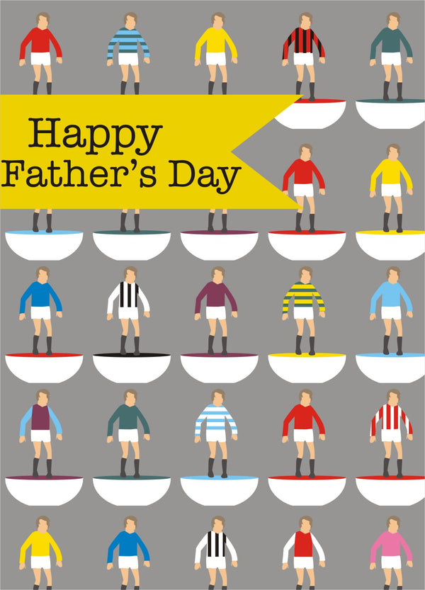 Father's Day Card, Subbuteo, Happy Father's Day, See through acetate window